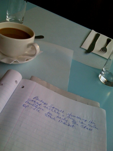 At The Standard Hollywood, Having Breakfast and Jotting Down Ideas