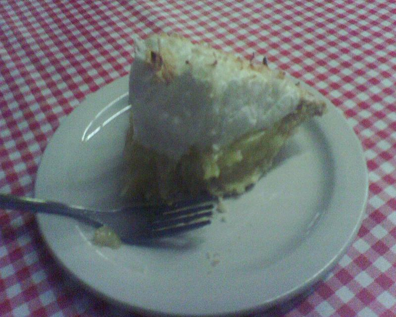 Coconut Pie At The Hamburger Store in Jefferson, Texas